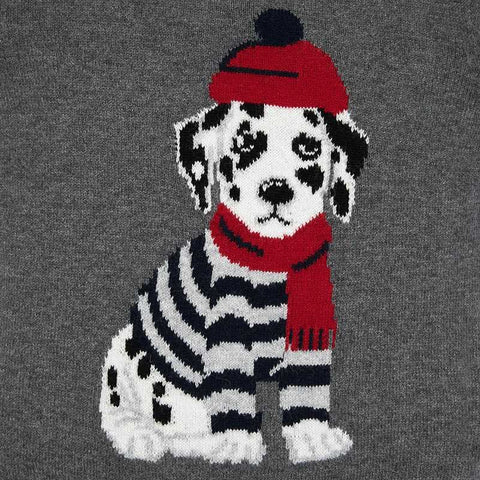 Sweater with printed dog
