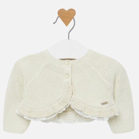 Baby girl cardigan with ruffles