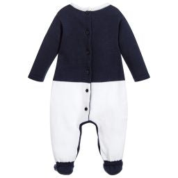 Navy Blue Knitted Babygrow