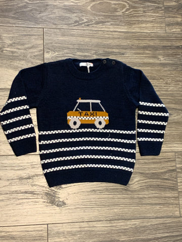 Baby boy sweater with car