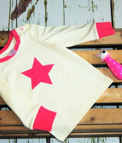 Beige Top With Pink Star (Unicorn)