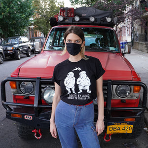Heather in Harness the Power of Love T-shirt from Death By Audio