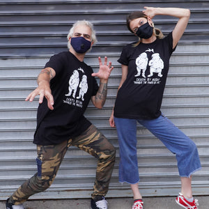 Robi and Heather in Harness the Power of Love T-shirt from Death By Audio