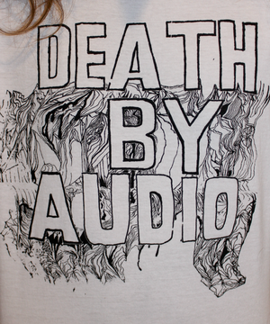 Death by Audio Melting Acid T-shirt artwork closeup