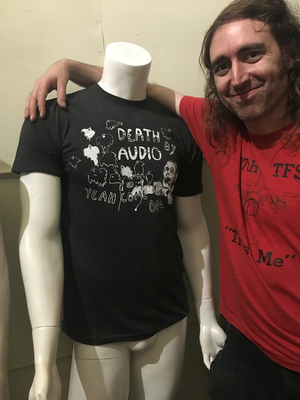 Oliver Ackermann with Death by Audio Ghost t-shirt
