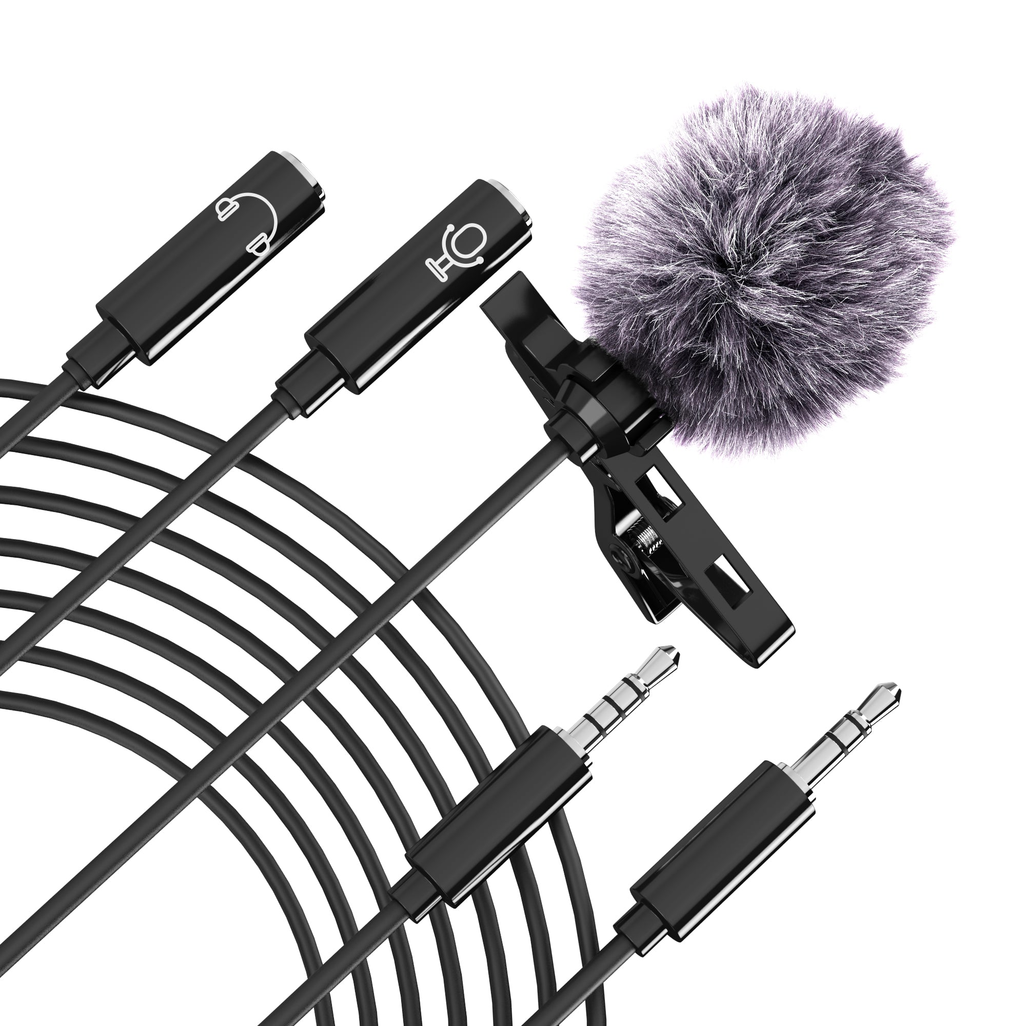 Lavalier Microphone with Enterview Splitter - STUFF 4 CAMERA
