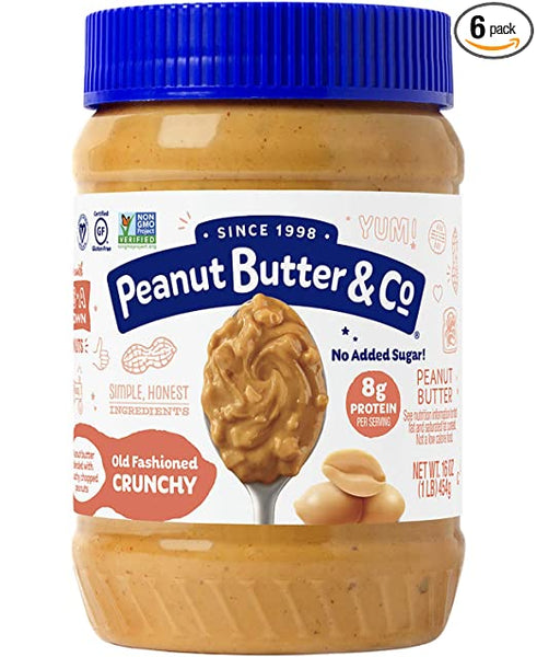 Peanut Butter & Co Old Fashioned Crunchy, 100% Natural Crunchy Peanut Butter