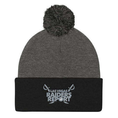 Las Vegas Raiders Report Pom Pom Knit Cap