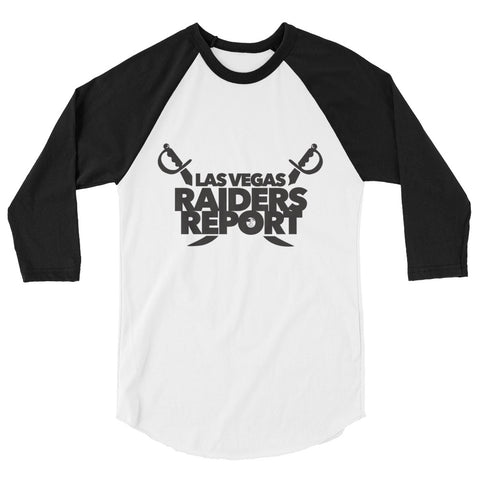 Las Vegas Raiders Report 3/4 sleeve raglan shirt