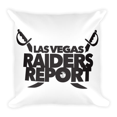 Las Vegas Raiders Report Square Pillow
