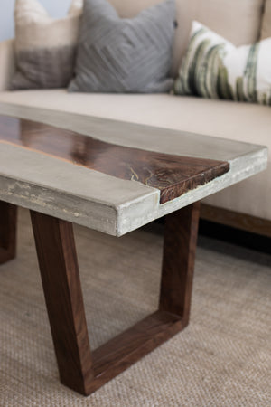 Concrete + Reclaimed Coffee Table