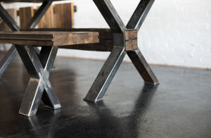Urban Loft Boxcar Dining Bench