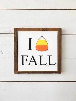 Candy Corn Fall Canvas
