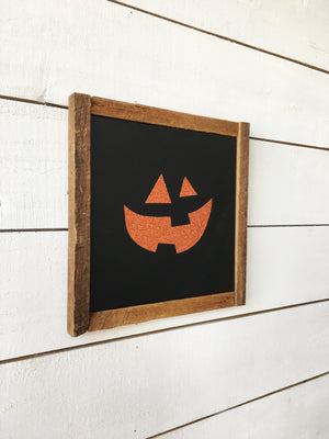 Pumpkin Faces Canvas - Set of 3