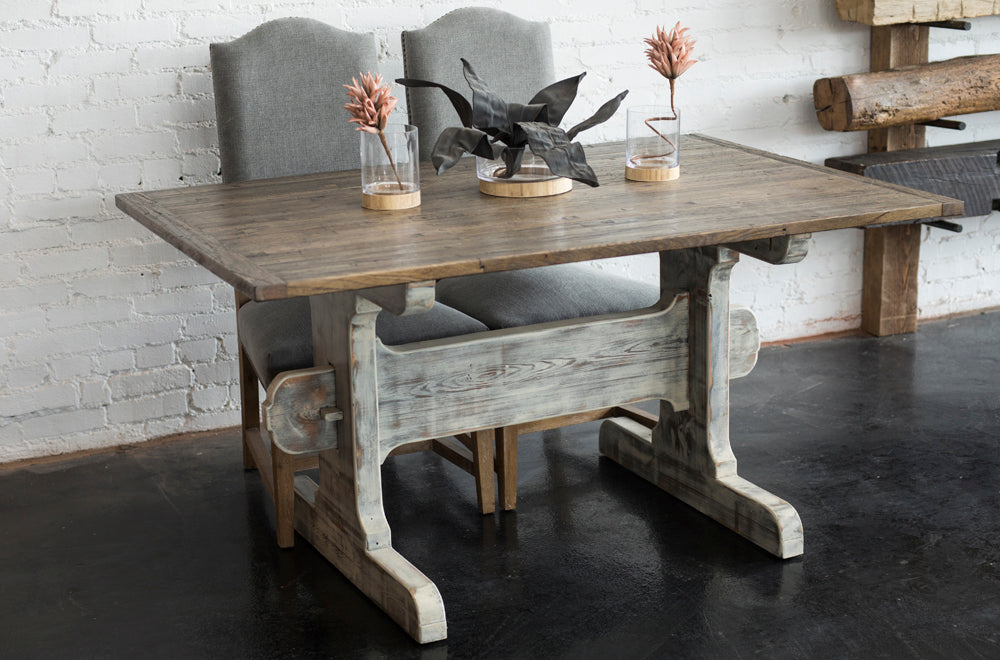 Simply crafted dining table timber beam for Southern crafted homes inventory