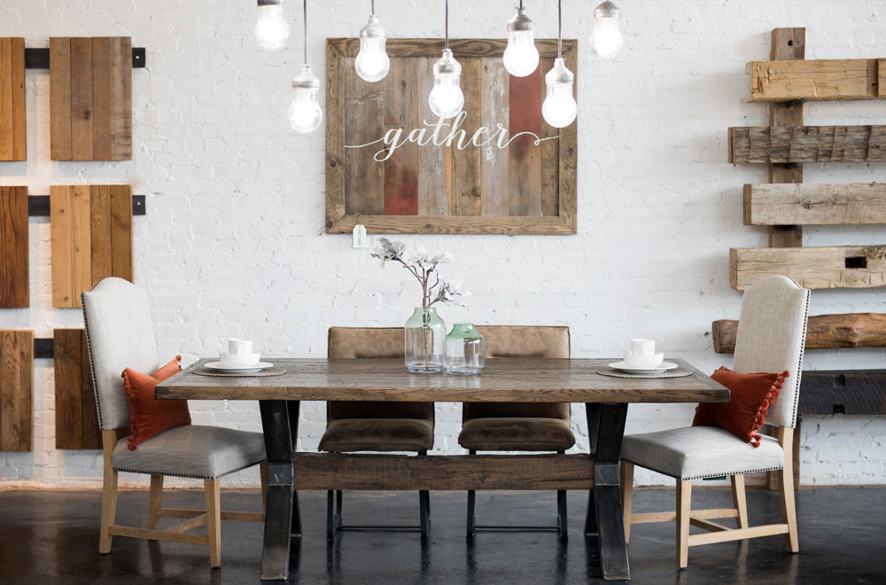 Urban Loft Cargo Dining Table Timber Beam