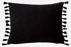 Fringes Pillow - Black