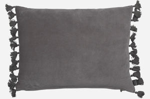 Fringes Pillow - Light Gray