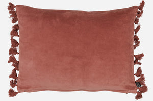 Fringes Pillow - Rust