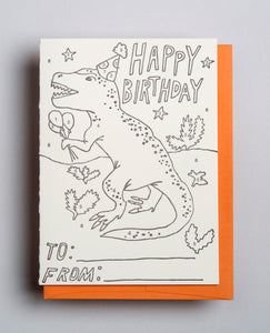 T-Rex Color By Number Birthday