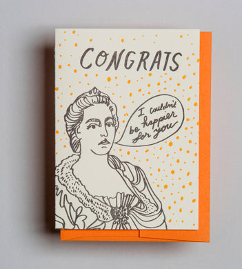 Letterpress Congrats card by Wolf and Wren Press