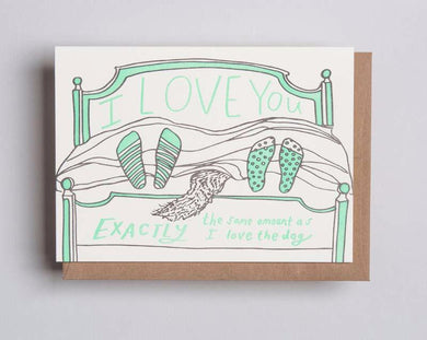 Letterpress card by Wolf and Wren Press-Love Dog