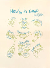 Letterpress print by Wolf and Wren Press | How to Be Good