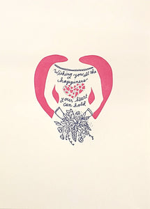 Letterpress print by Wolf and Wren Press | Wedding