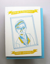 Letterpress birthday card by Wolf and Wren Press- You are a Masterpiece