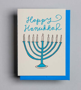 Letterpress card by Wolf and Wren Press- Hanukkah