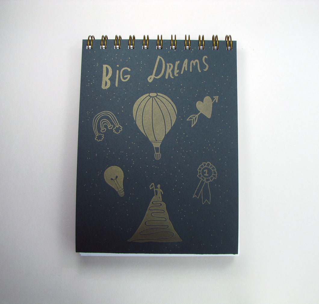 Big Dreams/Debilitating Fears Notebook (dark green/light green)