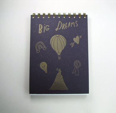 Big Dreams/Debilitating Fears Notebook (purple/tan)