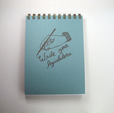 Large Write Legislators Notebook (blue/red)