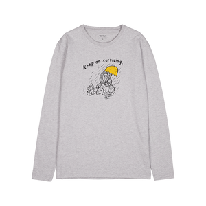 MAKIA x CupOfTherapy RoughDay long sleeve light grey