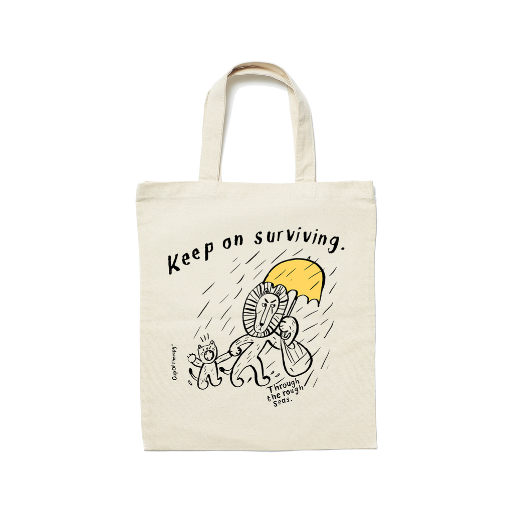 MAKIA x CupOfTherapy RoughDay Tote Bag
