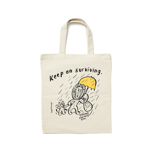 MAKIA x CupOfTherapy RoughDay -tote bag