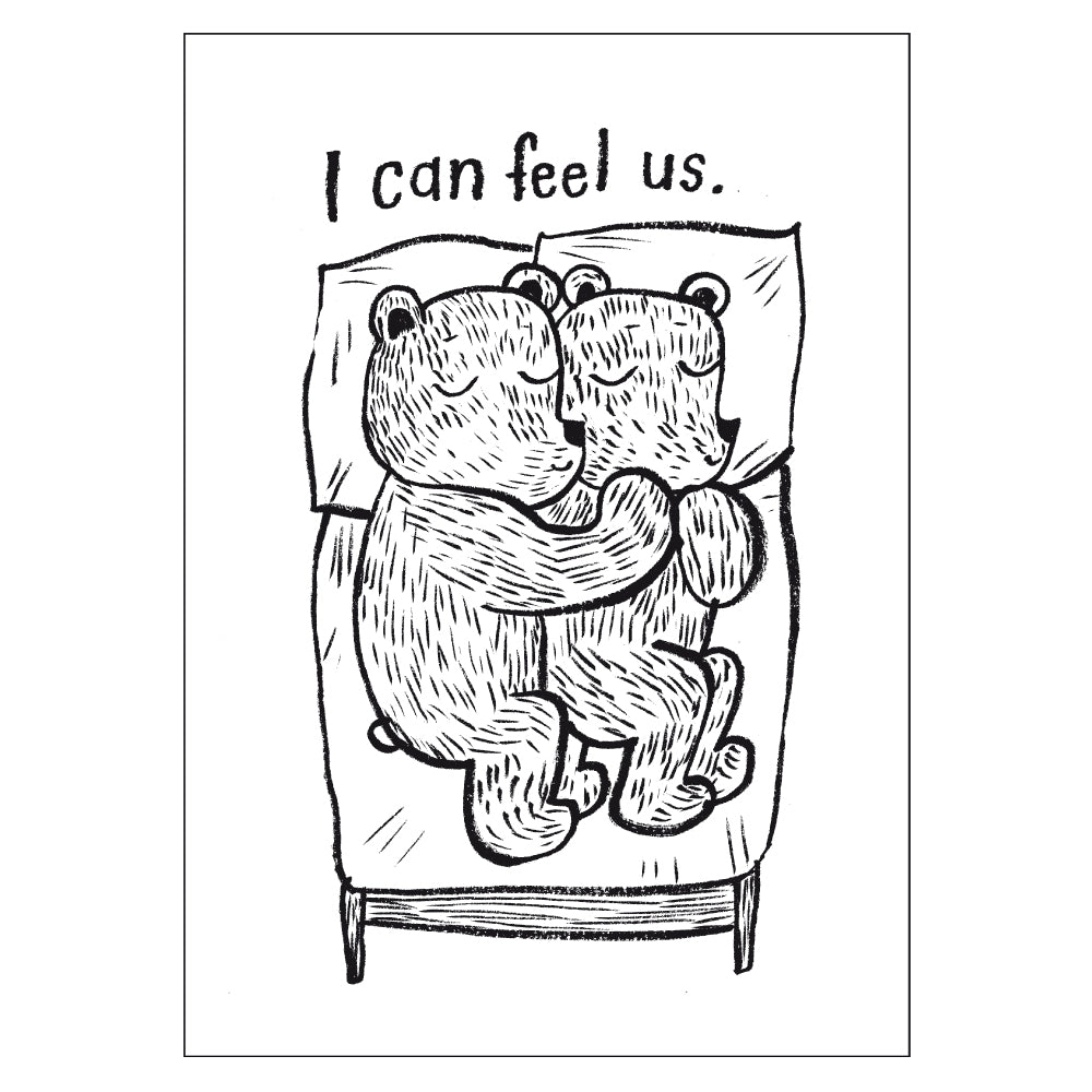 I can feel us. - Postcard A6