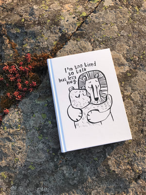 I'm too tired -hardcovered notebook