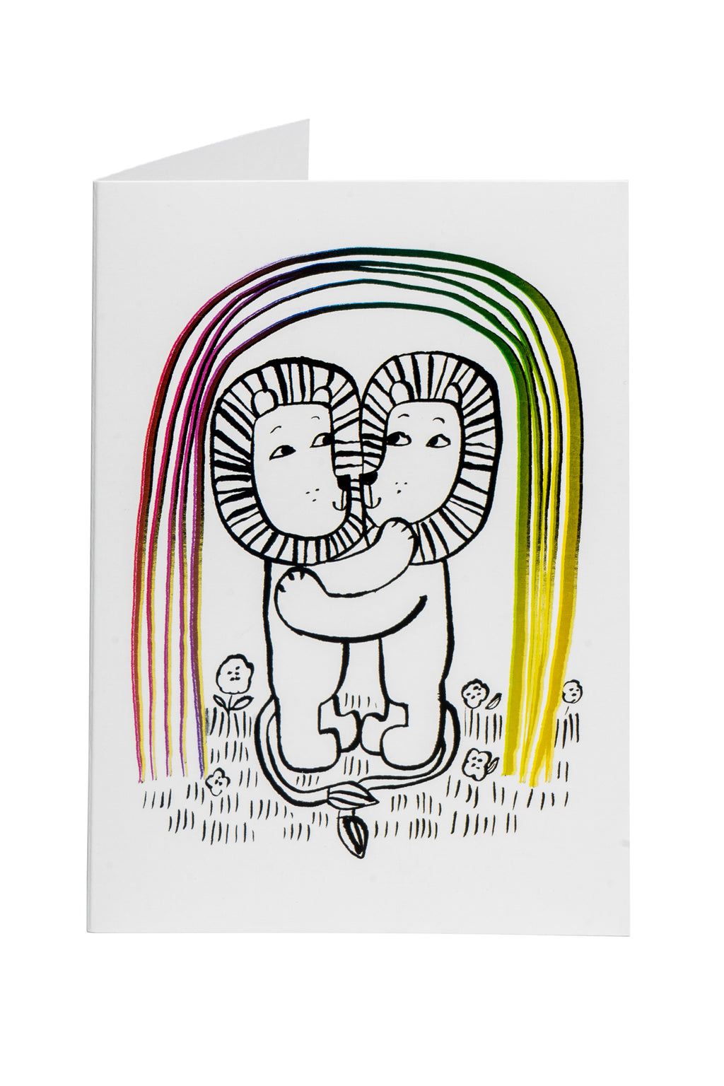 RainbowLove -greeting card