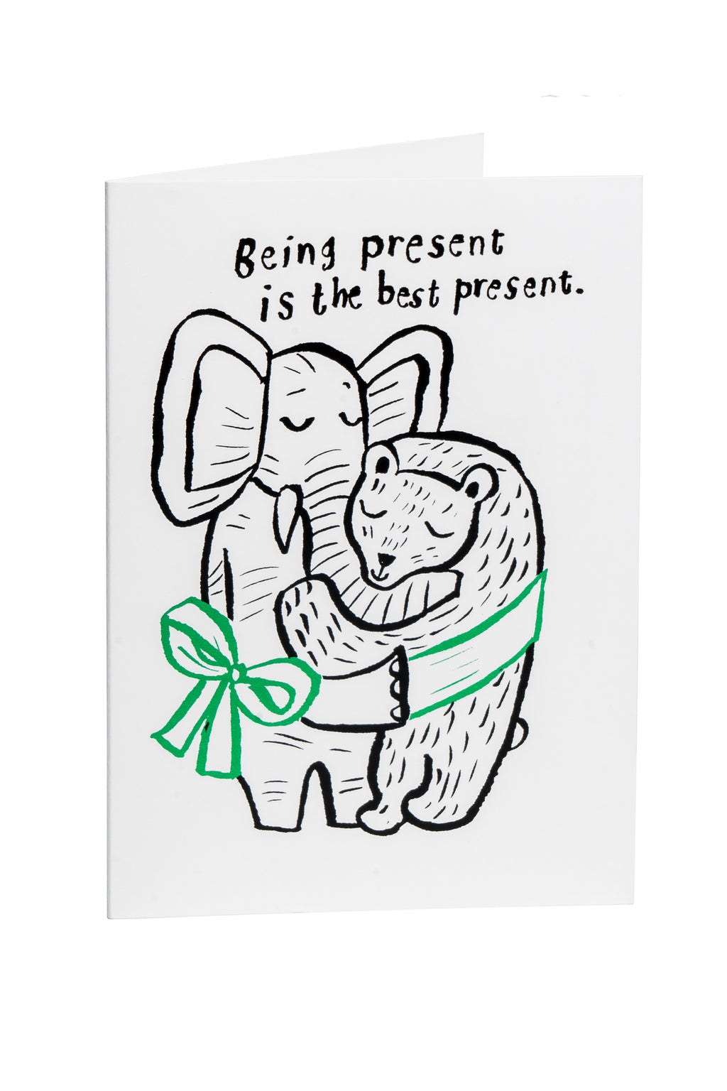 BeingPresentIsTheBestPresent -greeting card