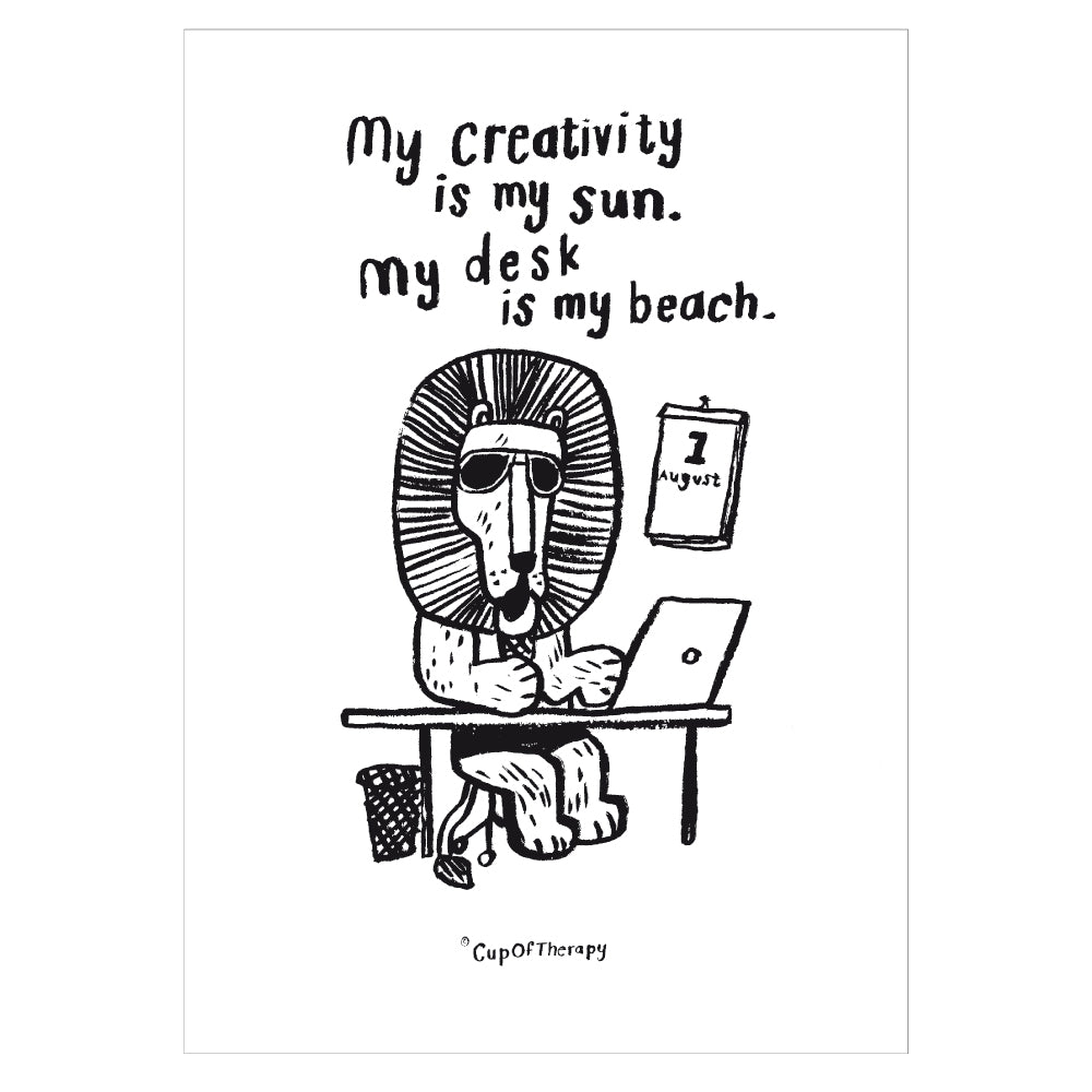 My creativity is my sun - Postcard A6