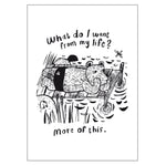 What do I want from my life? - Postcard A6