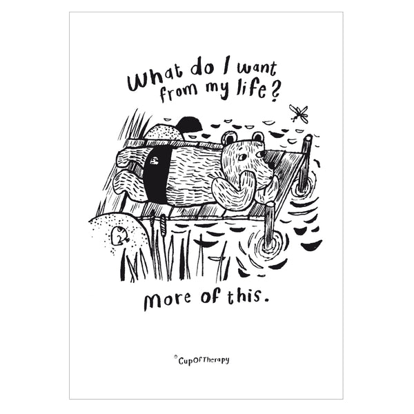 What do I want from my life? - Poster A3