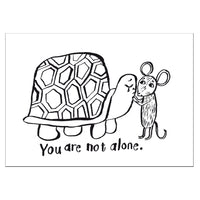 You are not alone. - Postcard A6
