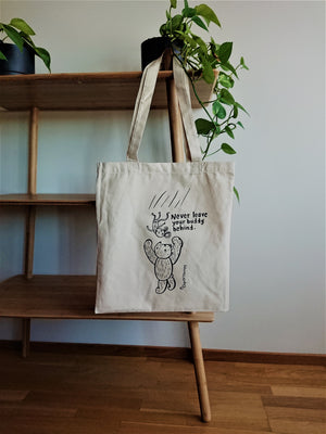 NeverLeaveYourBuddy -tote bag