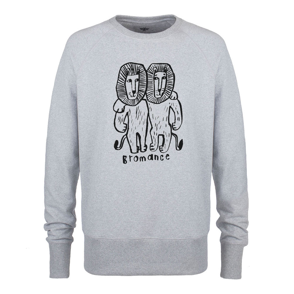 Grey unisex Bromance sweater