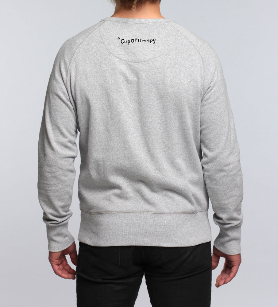 Grey unisex I'm too tired sweater