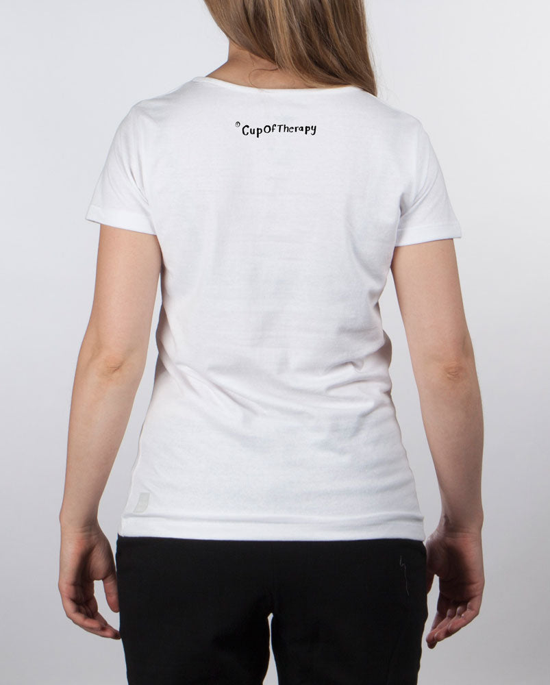 I'mTooTired t-shirt women's white