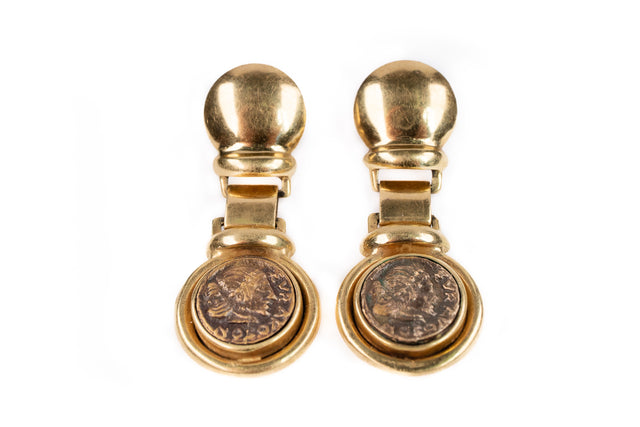 Antique Coin Earring