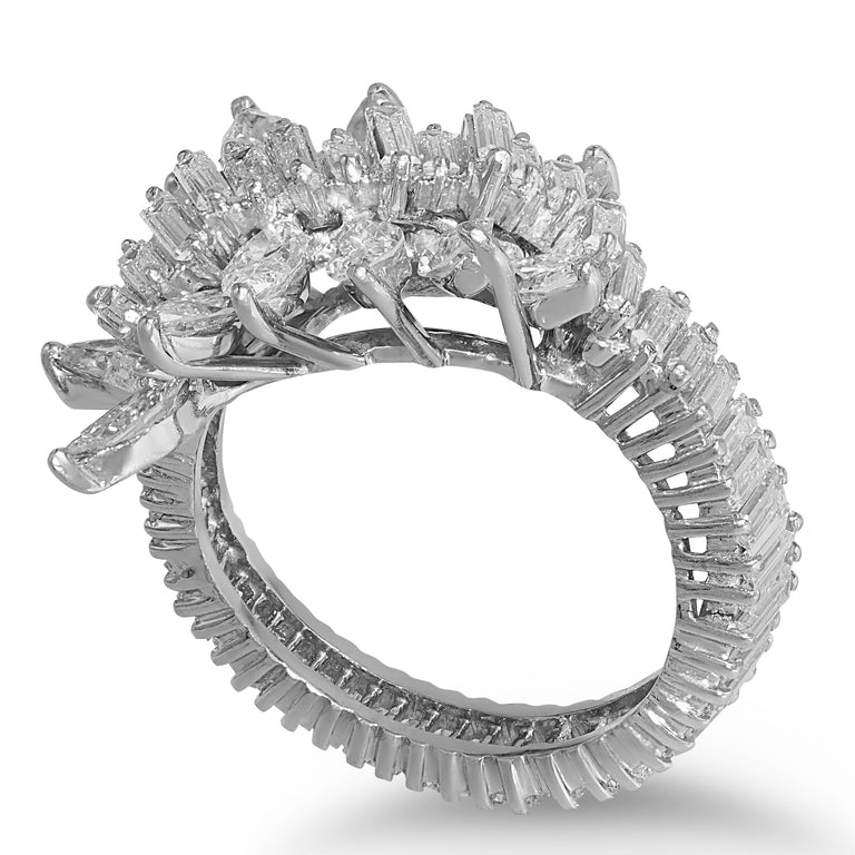 Baguette & Marquise Diamond Ring